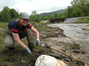 SWVT TU President Jackie Jordan getting her hands dirty